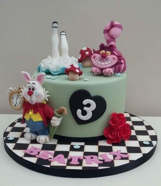 Alice In Wonderland Inspired Sheet Cake Buttercream Frosting