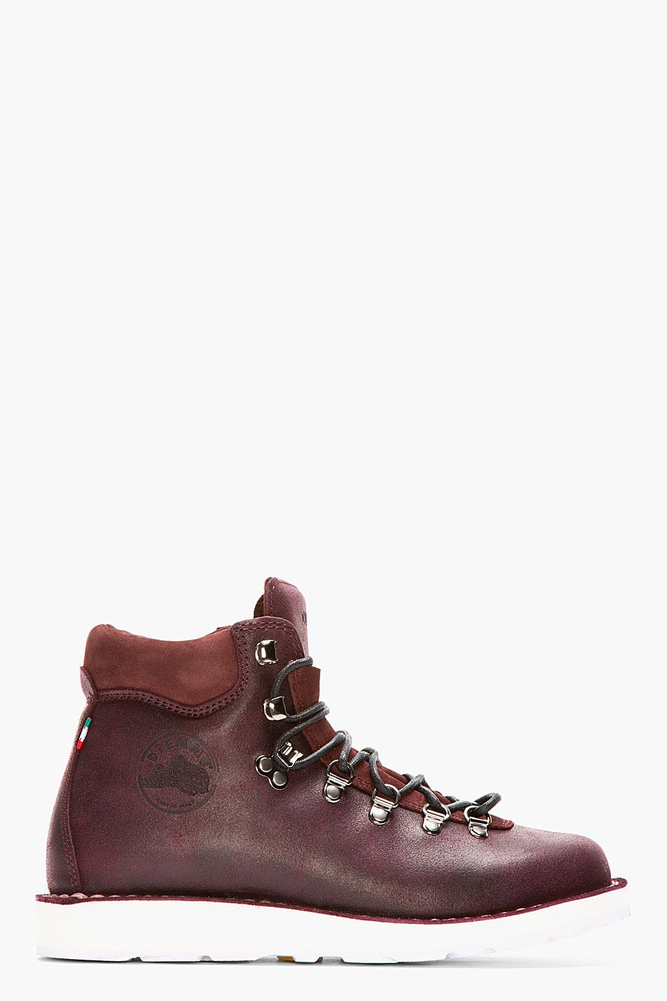 DIEMME Dark Burgundy Brushed Leather Roccia Vet Boots