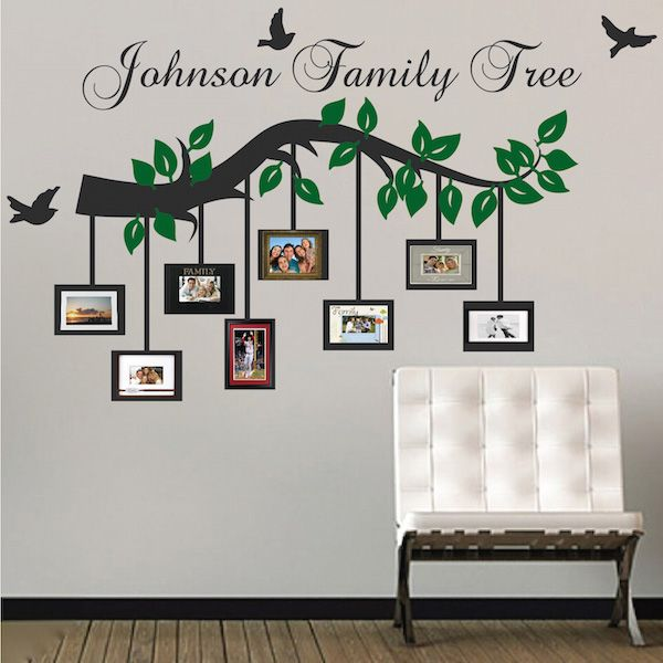 Customizable Picture Frame Branch Wall Decal Trendy Wall Designs Family Tree Wall Art Tree Design On Wall Family Tree Wall Decor