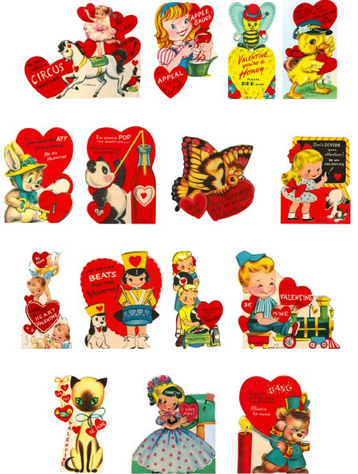 graphic relating to Free Printable Vintage Valentine Cards identify cost-free printable basic valentines working day playing cards Valentines