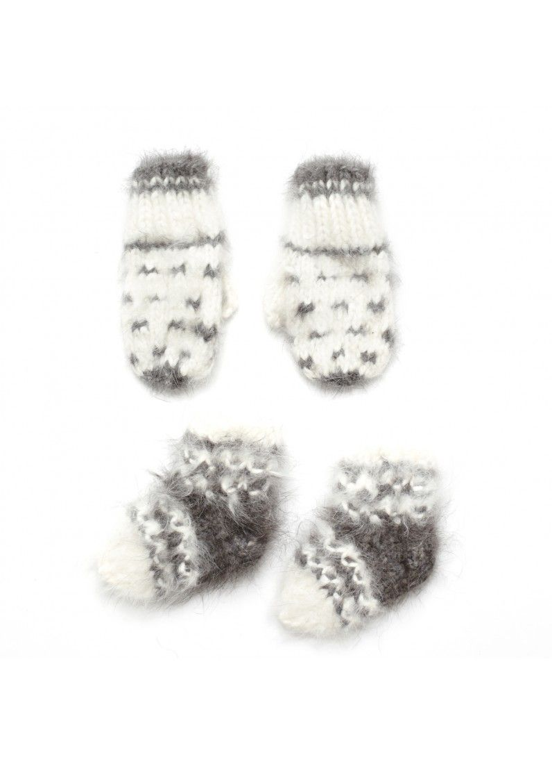 Fuzzy Mitten & Sock Set - BABY BOY - Products : Fawn Shoppe - Global Boutique For Unique Children's Designs