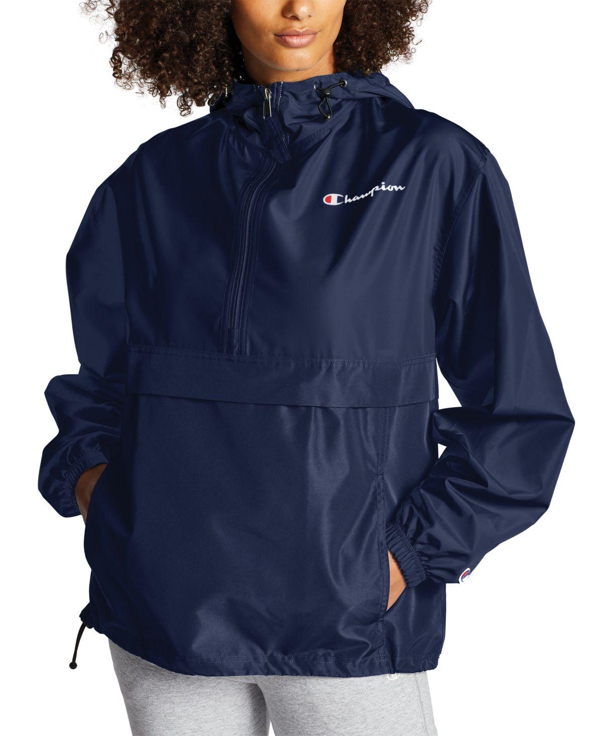Champion Women S Packable Hooded Jacket Reviews Jackets Blazers Women Macy S Windbreaker Jacket Women Blazer Jackets For Women Packable Jacket [ 1466 x 1200 Pixel ]