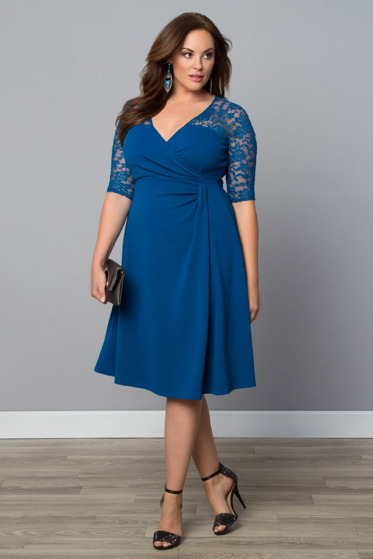 8d7d43d13ac94 It s wedding season! Our plus size Lavish Lace Dress will make you feel  like the prettiest guest at the reception. Made in the USA. www.kiyonna.com