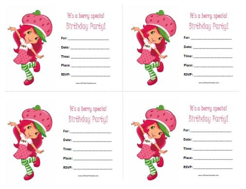 Free printable strawberry shortcake birthday invitations strawberry shortcake birthday invitations free printable filmwisefo Gallery