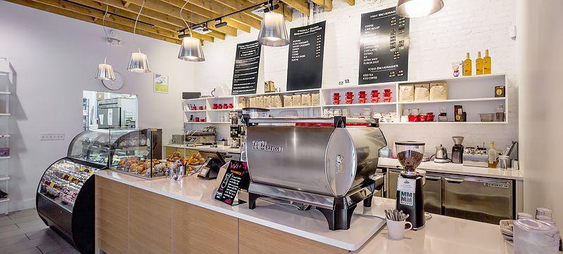 Caffe Aromi Jamaica Plain Service counter, Caffe