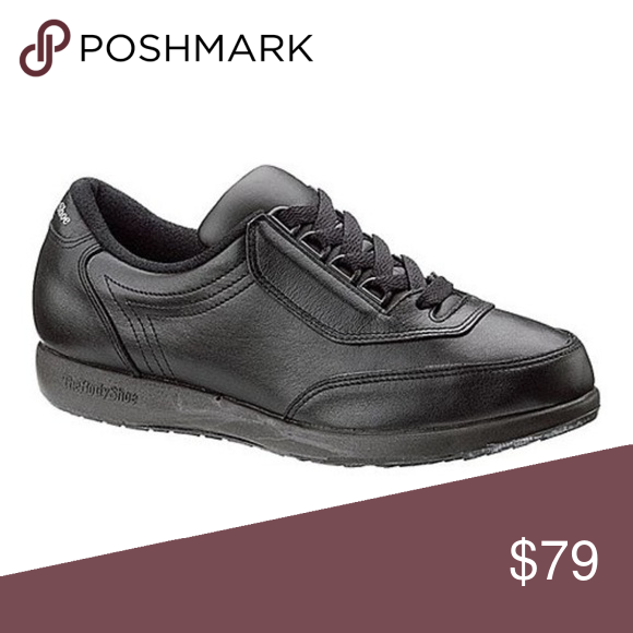 Hush Puppies Classic Walker Black Womens New With Box Leather
