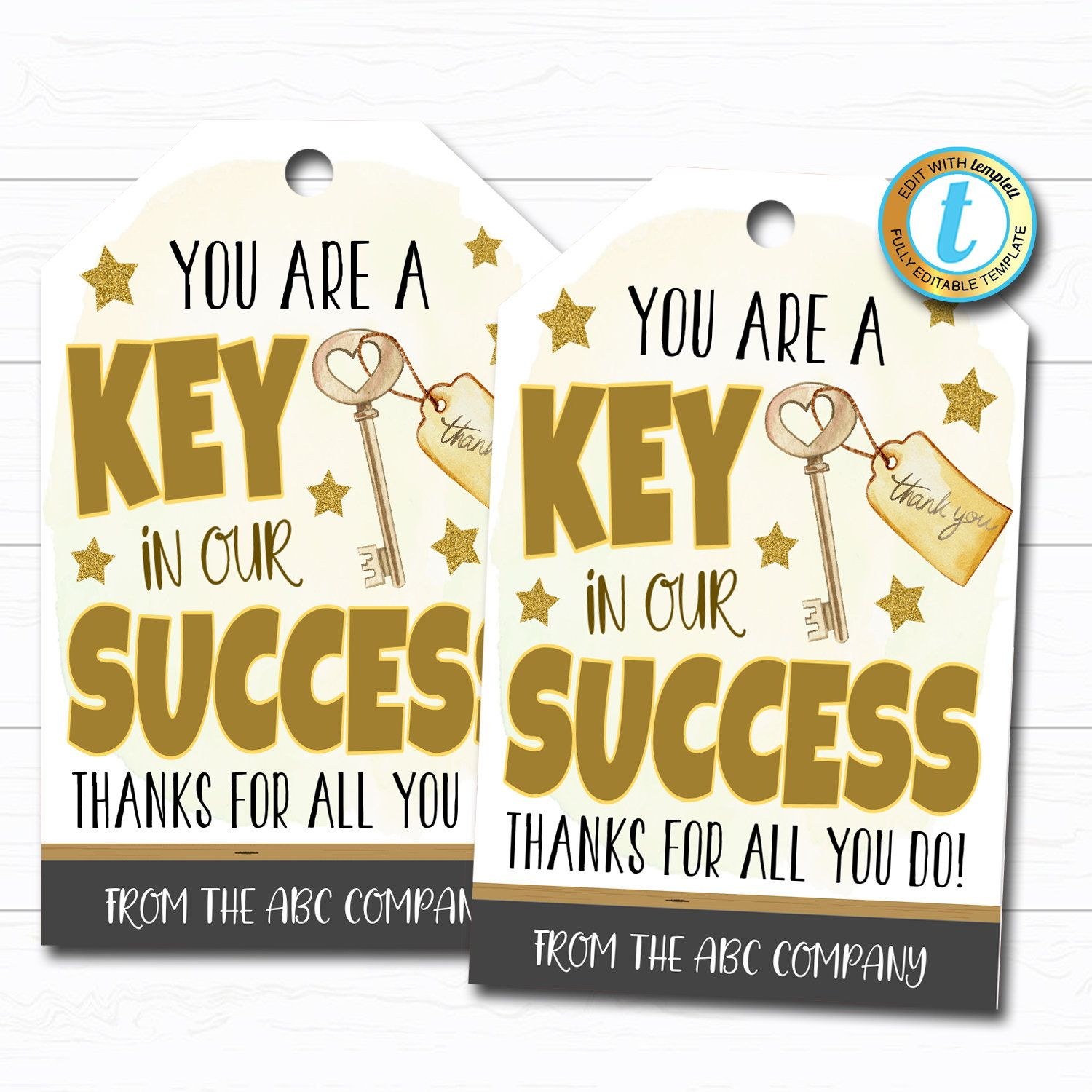 Employee Appreciation Gift Tag Thank You Success Key Worker Etsy Employee Appreciation Gifts Appreciation Thank You Employee Appreciation