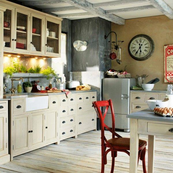 cuisine campagne chic 9 magnifiques id es de d co pinterest cuisine campagne chic cuisine. Black Bedroom Furniture Sets. Home Design Ideas