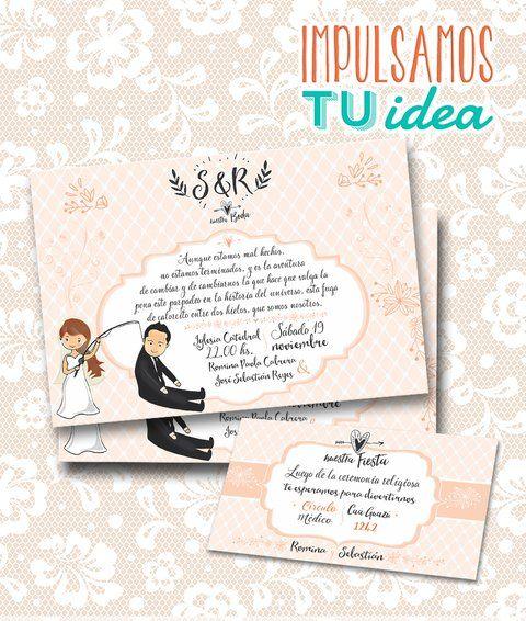 Tarjeta De Boda Invitación De Casamiento Para Imprimir