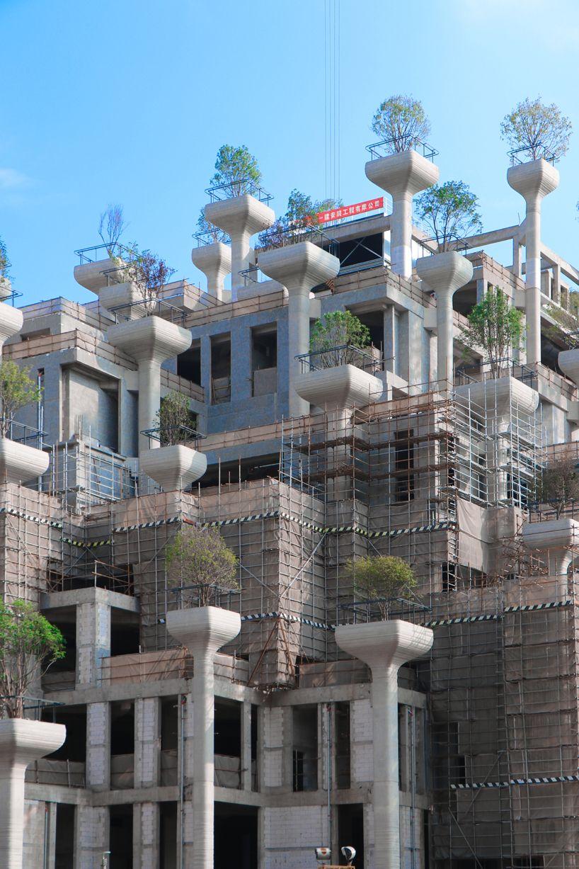 heatherwick studio\u0027s 1000 trees complex in shanghai well underway ...