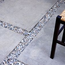 Cement Pavers With Grey Pebbles In Between Cheap Patio