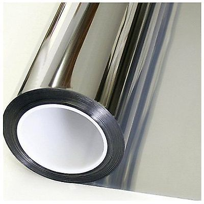 Mirror Window Tint One Way Film Uv Heat Reflective Home Office Heat Insulation Mirror Window Film Window Mirror Window Film Diy