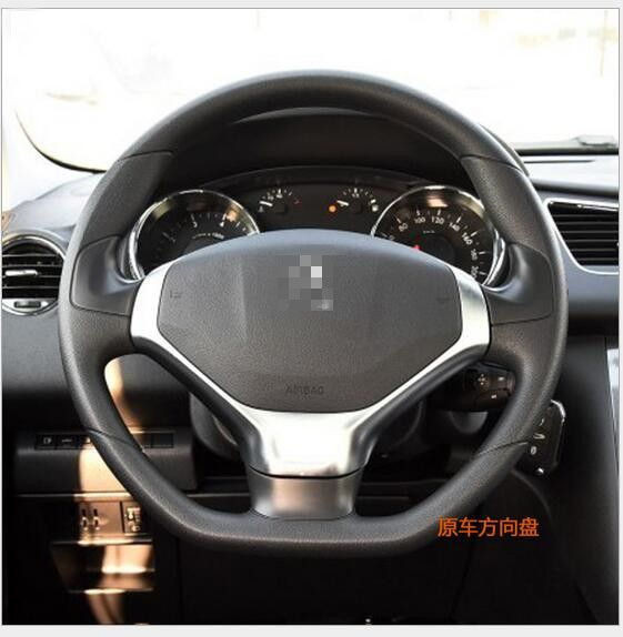 Black Hand Stitched Bilateral Blowhole Car Steering Wheel Cover For Peugeot 3008 Custom Special Au Steering Wheel Cover Car Steering Wheel Cover Steering Wheel