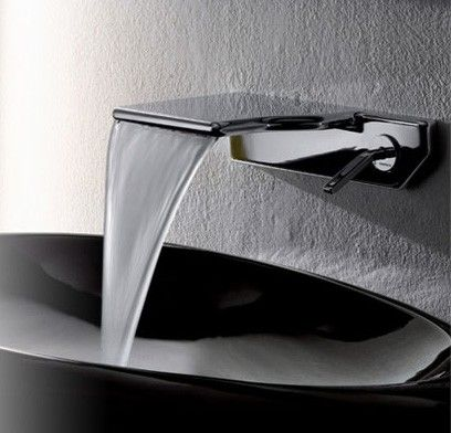 Water fall faucet.  ALL my bathrooms will someday have one of these.  They are so much more comfy on your hands!