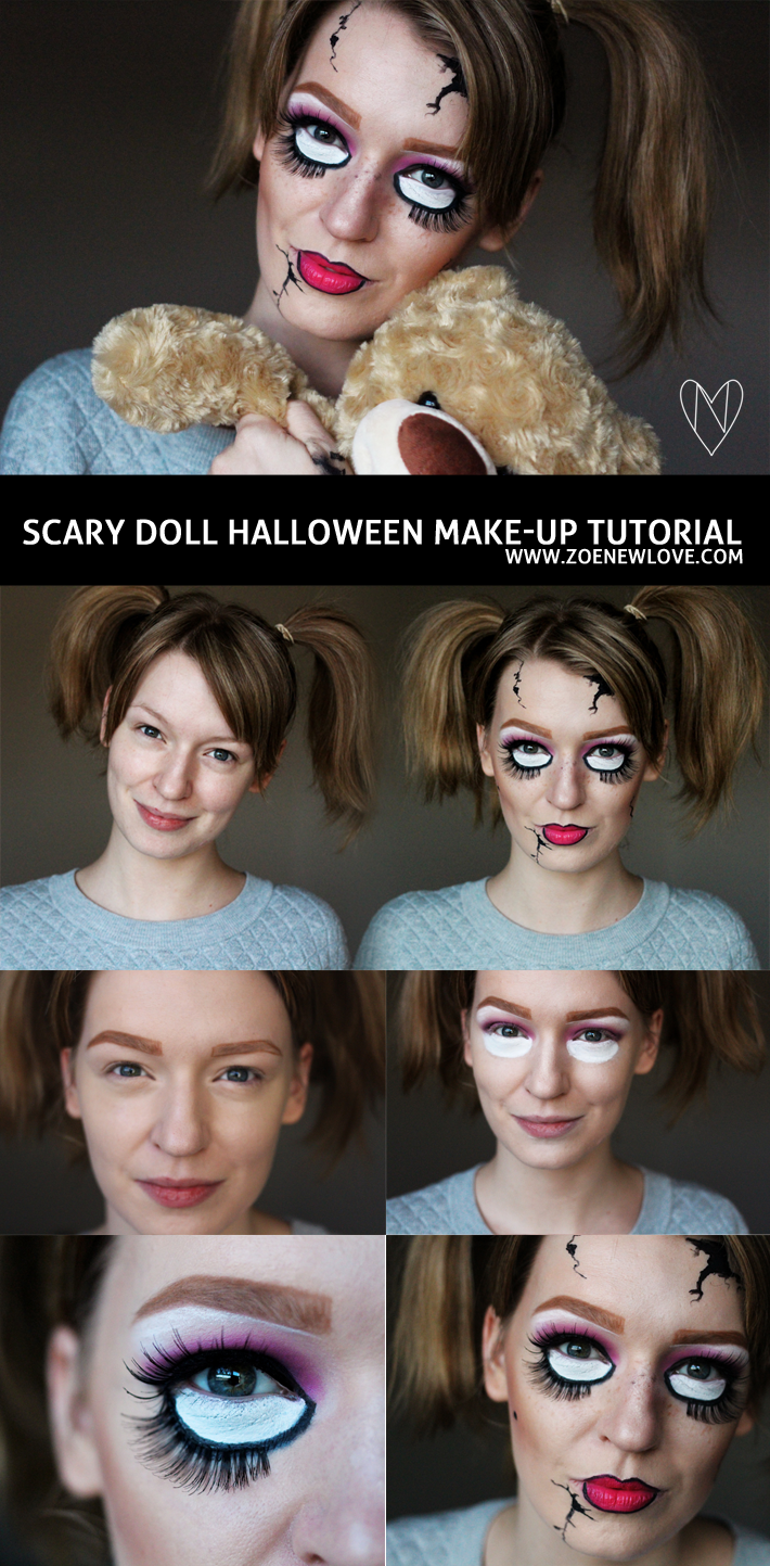 Scary doll halloween make up tutorial halloween pinterest scary doll halloween make up tutorial baditri Gallery