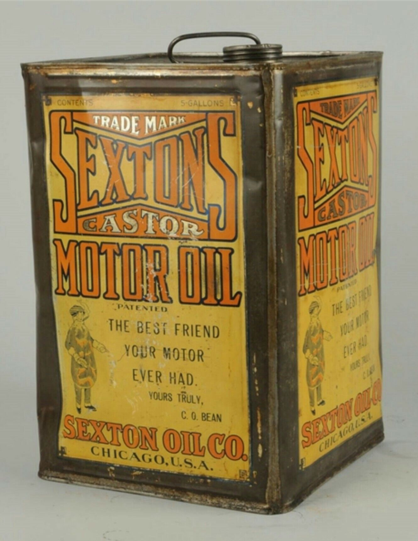 Vintage tin can lot 2 sexton peanut spread & dehydrated parsley ...