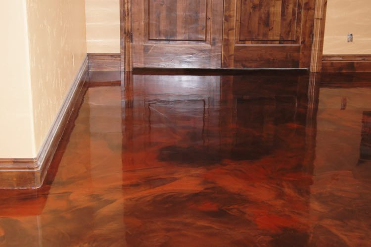 Image Result For Stained Concrete Floor