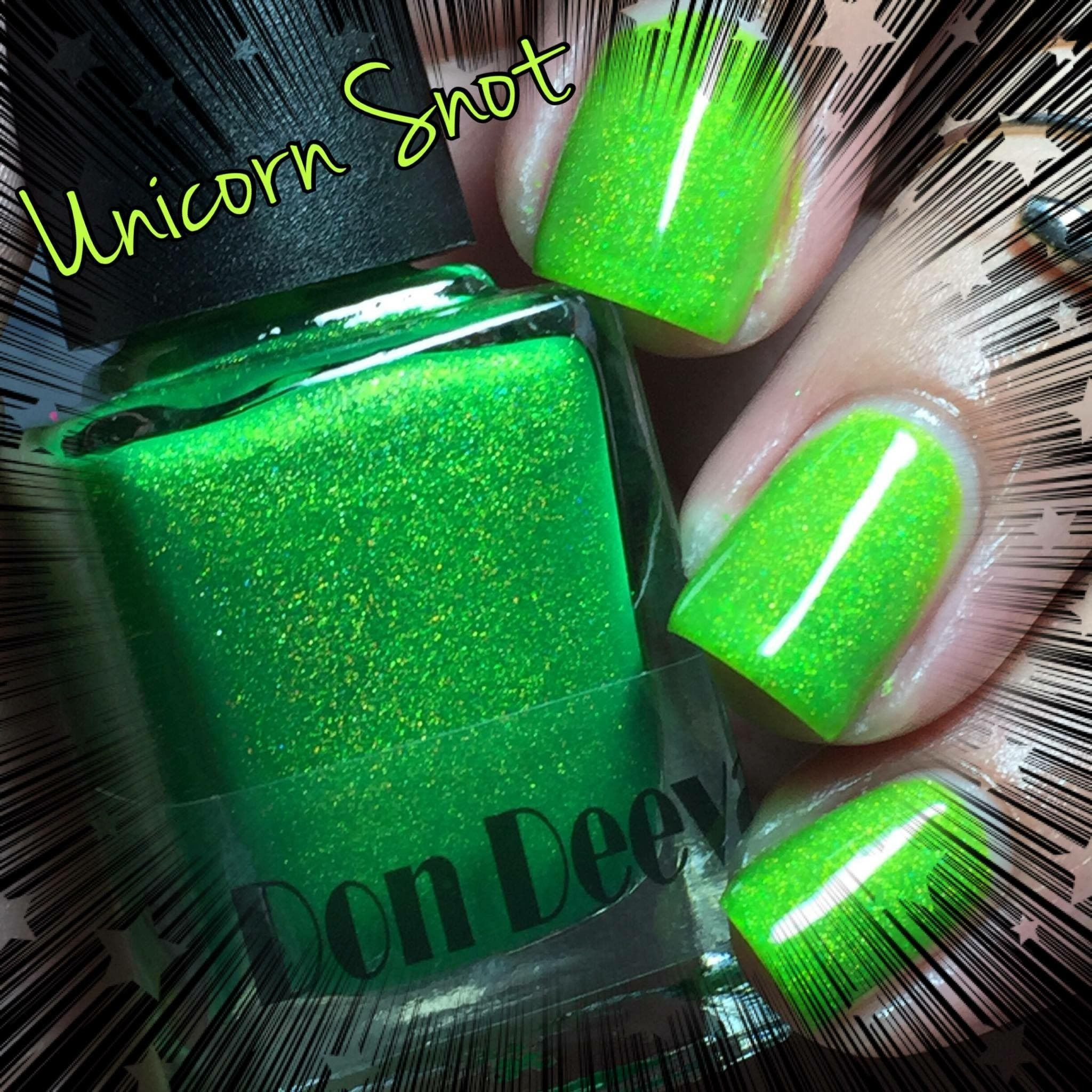 This is a lime green holographic beauty.But don\'t worry I won\'t tell ...