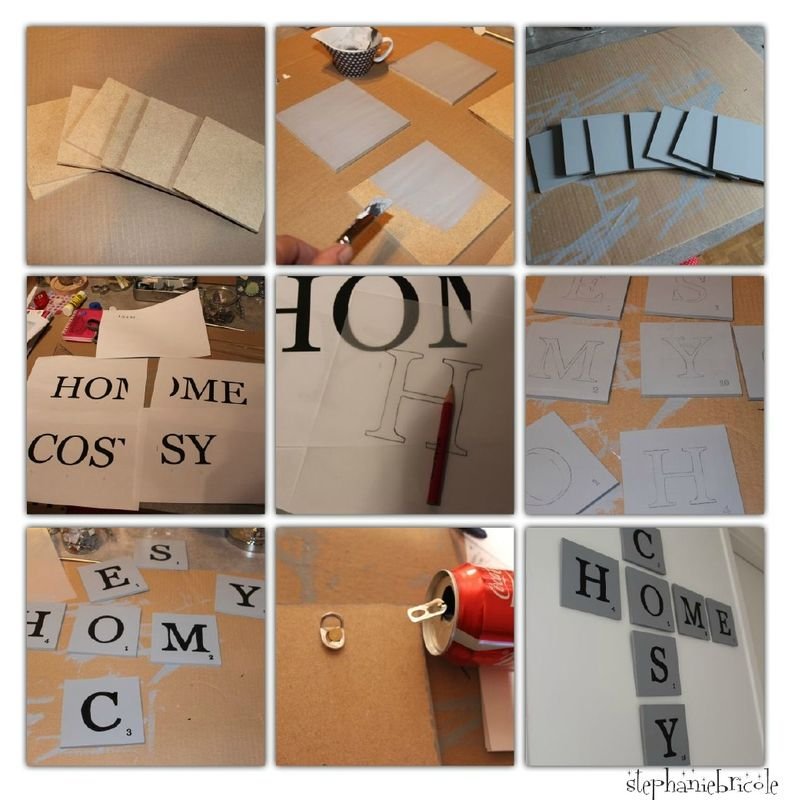diy une d co murale inspiration scrabble scrabble diy. Black Bedroom Furniture Sets. Home Design Ideas