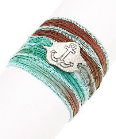 Look what I found on #zulily! Lagoon Anchor Silk Wrap Bracelet #zulilyfinds