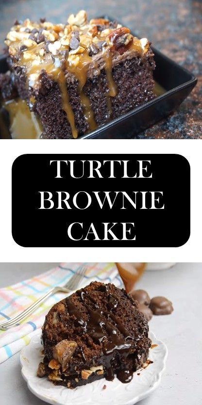 >> TURTLE BROWNIE CAKE #food #recipes #cake    #turtlebrownies >> TURTLE BROWNIE CAKE #food #recipes #cake #turtlebrownies