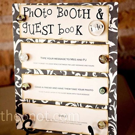 directions for DIY photo booth Wedding Ideas Pinterest