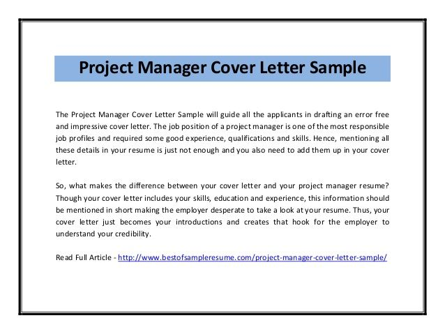 project manager cover letter sle pdf News to Go 3 Pinterest
