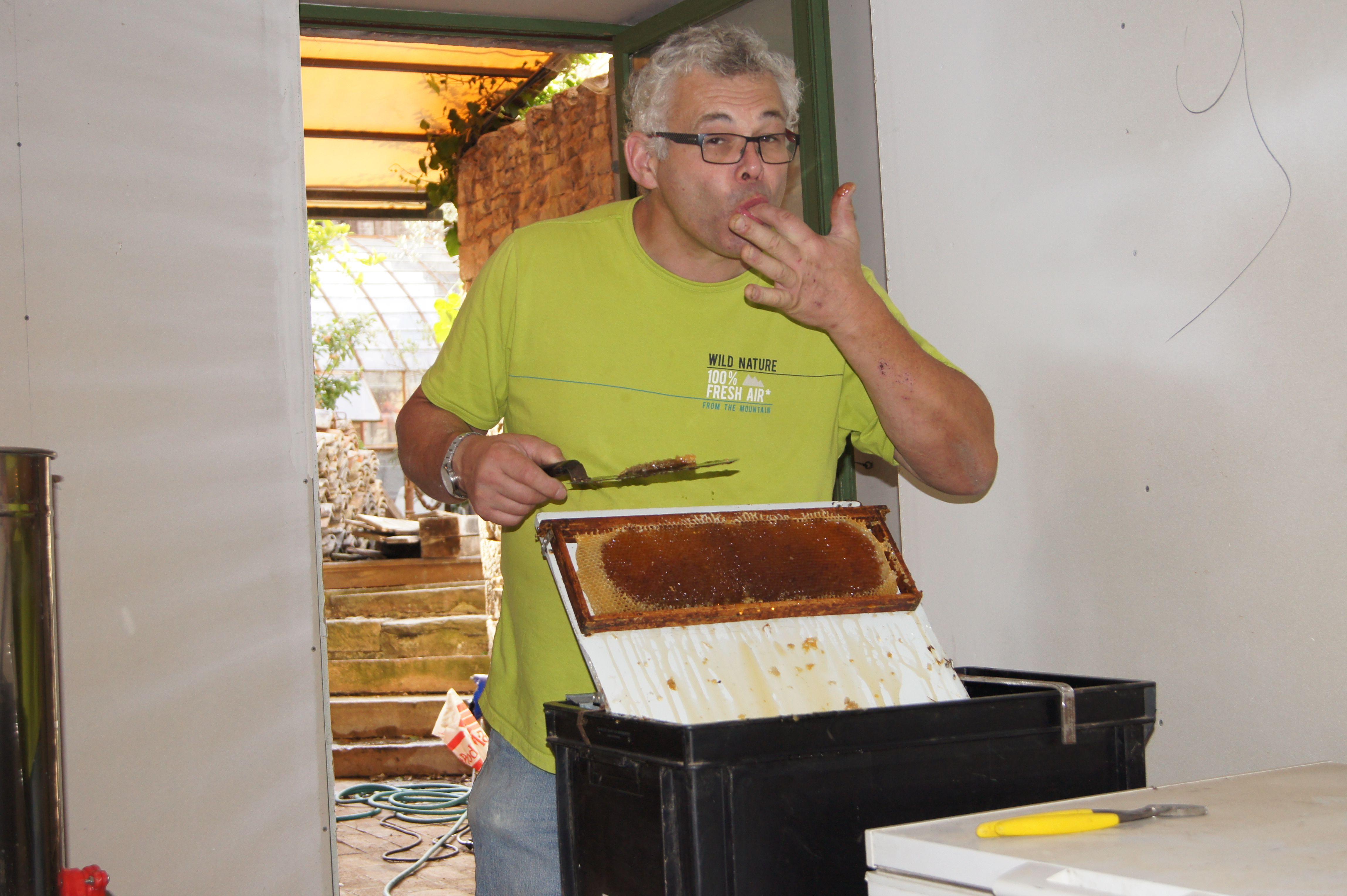 Récolte de miel en Bourgogne  Hum Que c'est bon!!!!!!!!