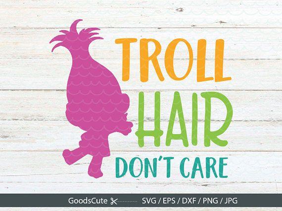 troll hair don't care svg trolls