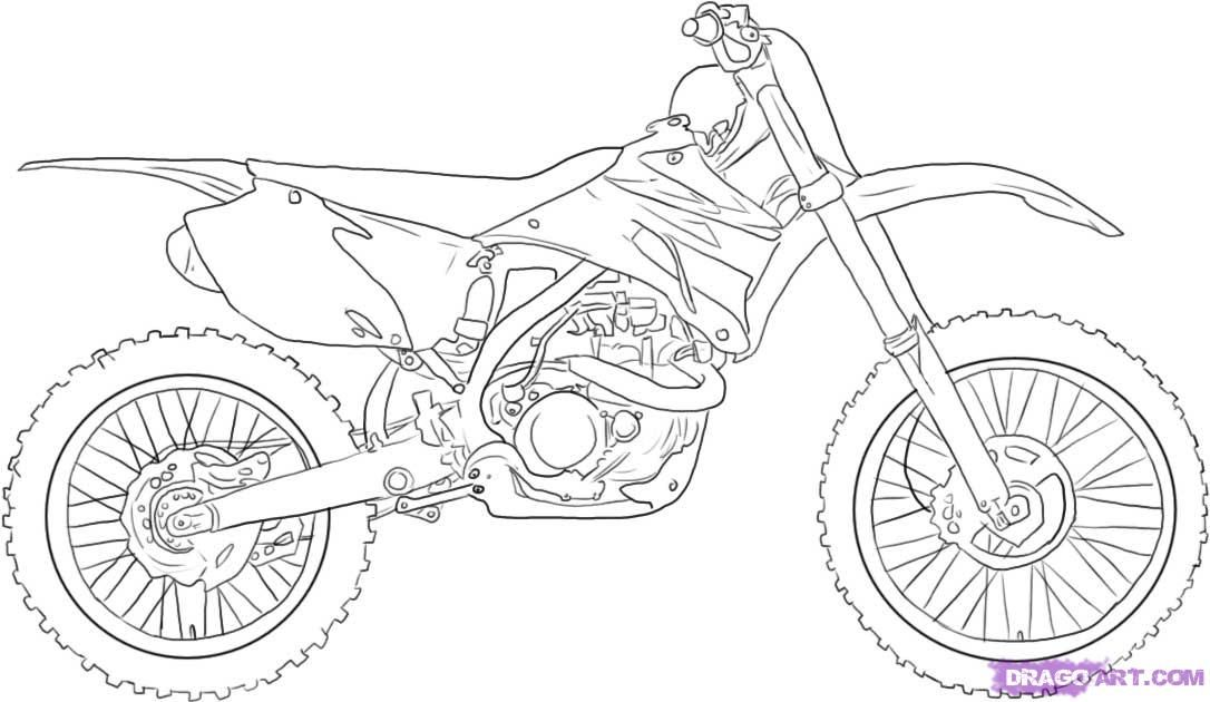 How To Draw A Dirt Bike Step 5 Fahrrad Zeichnung Malvorlagen