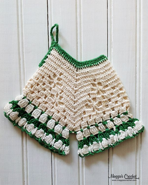 Cute crochet vintage potholder | patrones de ganchillo | Pinterest ...