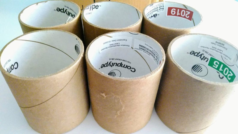 6 Heavy Duty Cardboard Tape Roll Cores Cylinders Arts And Etsy In 2020 Arts And Crafts Supplies Craft Supplies Crafts
