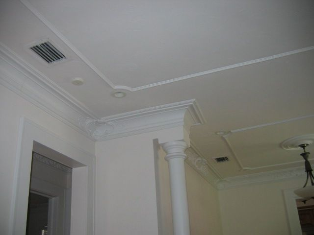 Superior Vaulted Ceiling Crown Moulding Installation   YouTube