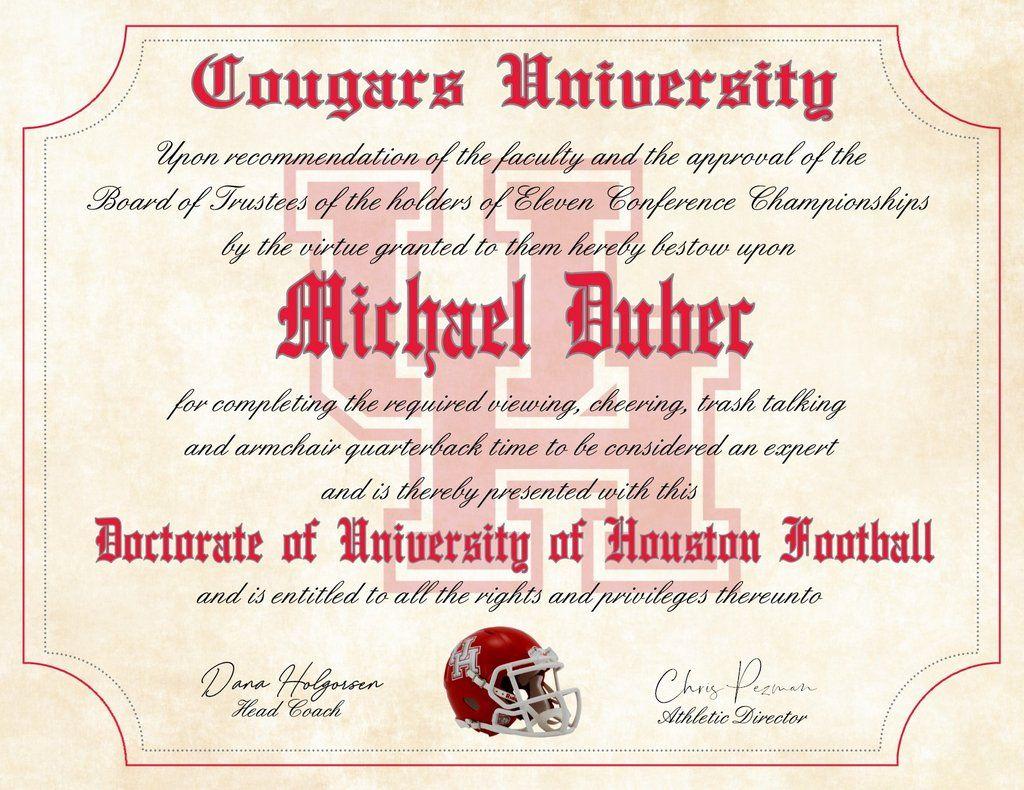 University of Houston Cougars Ultimate Football Fan