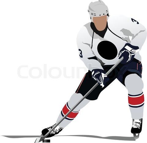 Vector Of Ice Hockey Players Vector Illustration On Colourbox Hokkeisty Detskie Risunki Hokkej