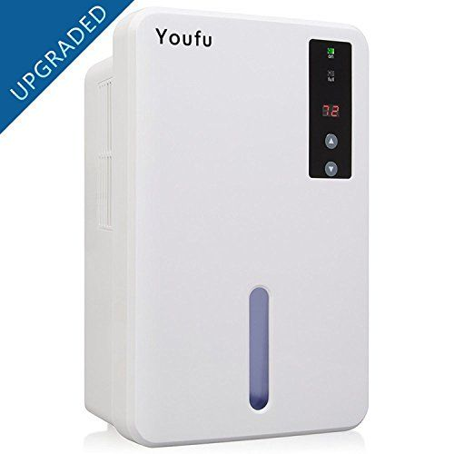 YouFu Small-Size Home Dehumidifier with Auto Humidistat – Sleeping Mode & Touch Panel Control-Great For bedrooms, bathrooms, RV, Laundry or basements Approx 1200 Cubic Feet For Sale #touchpanel