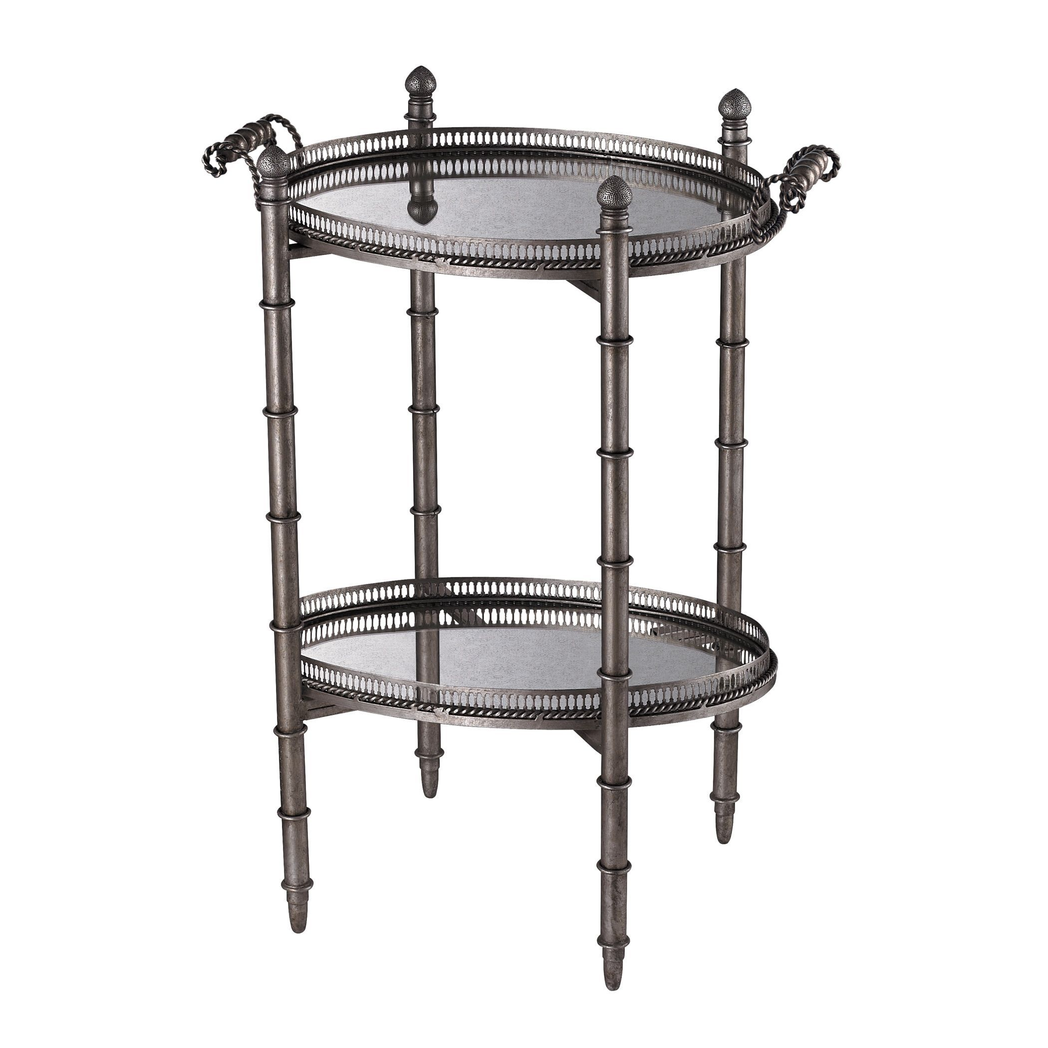 Sterling Industries Tyrella Silver Tray Accent Table (Tyrella Silver Tray Table)
