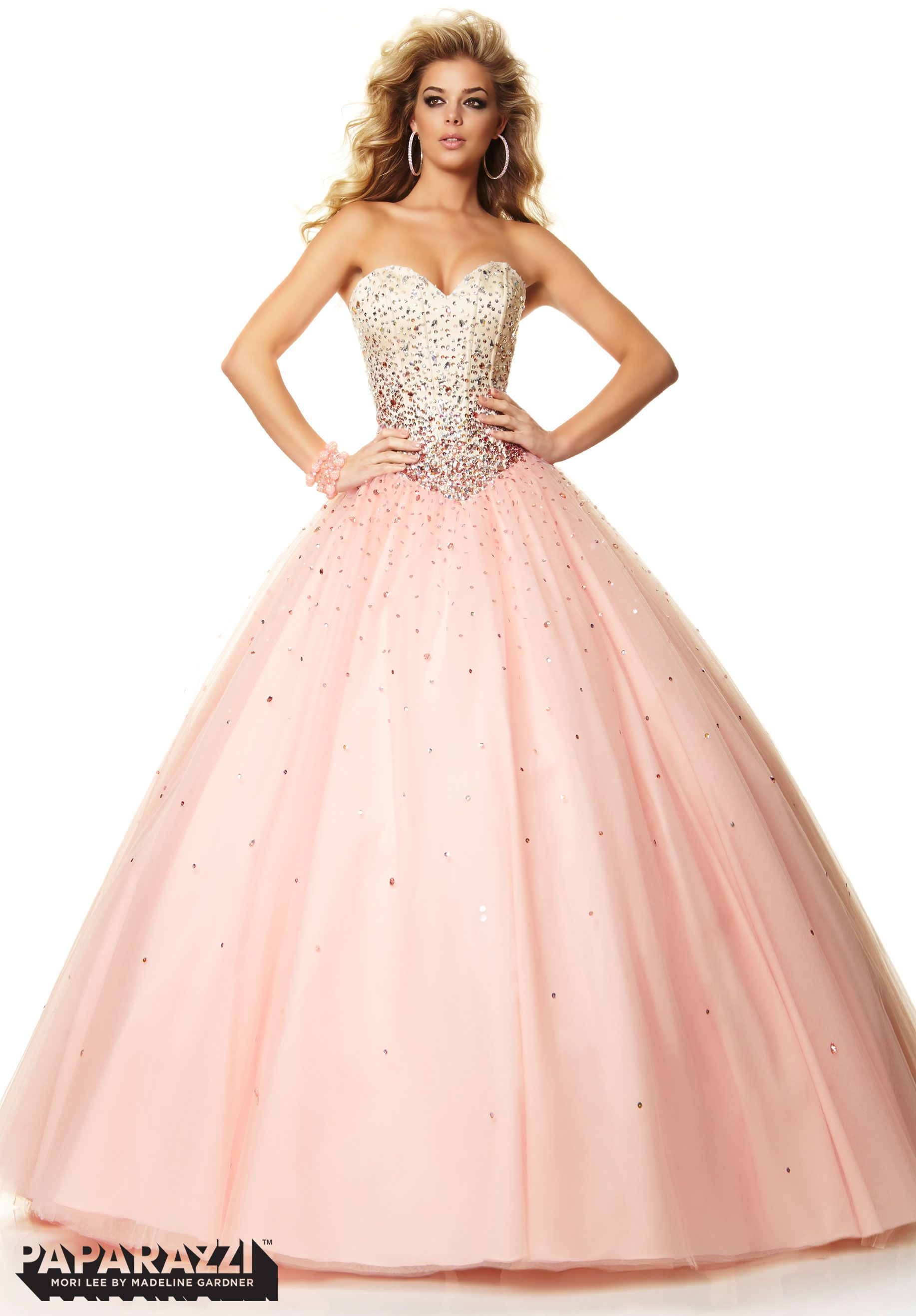 Prom Dresses / Gowns Style 97051: Beading on Satin and Tulle ...