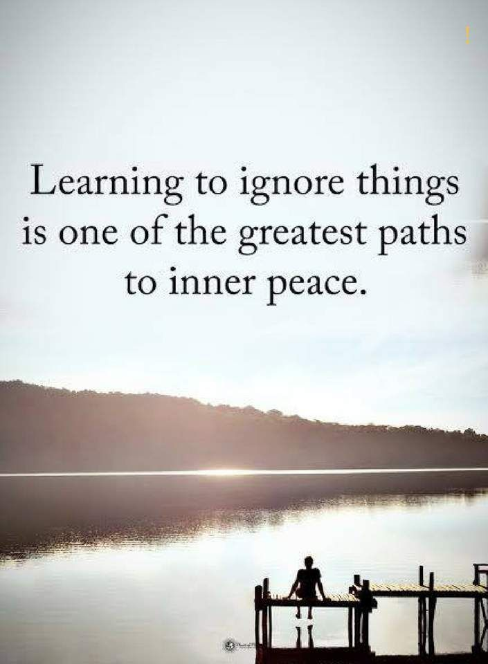 Learning to ignore things is one of the great paths to ...