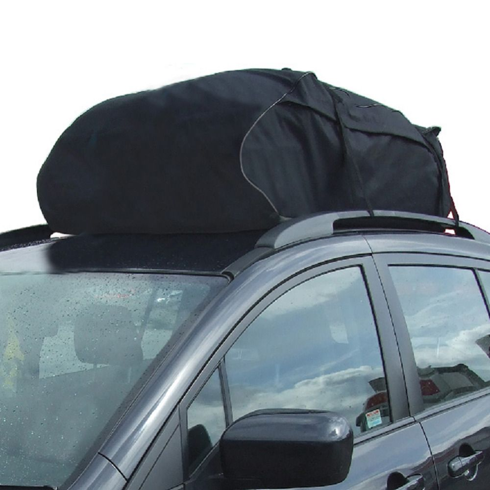 Tirol Water Resistant Roof Bag 15 Cubic Feet Roof Top Cargo Carrier For Vehicles With Roof Rails Suv Van Cargo Bo Car Roof Storage Cargo Storage Waterproof Car