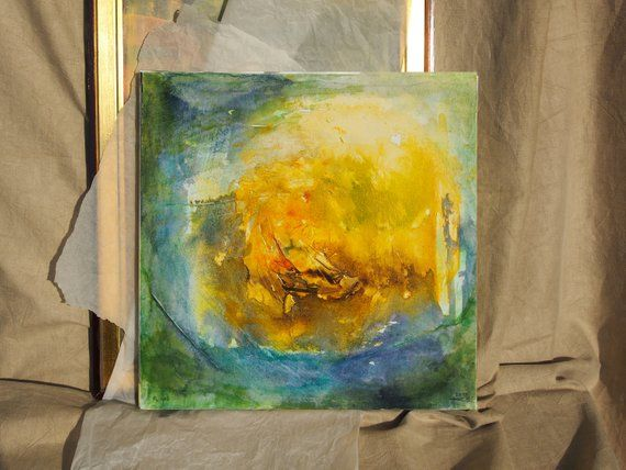 Picture On Canvas Abstract Art Yellow Picture Abstract