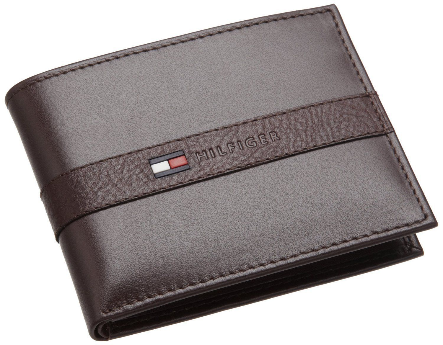 Tommy Hilfiger Men S Leather Bifold Credit Card Wallet Brown 31tl22x062 Leather Wallet Mens Leather Credit Card Wallet Tommy Hilfiger Wallet