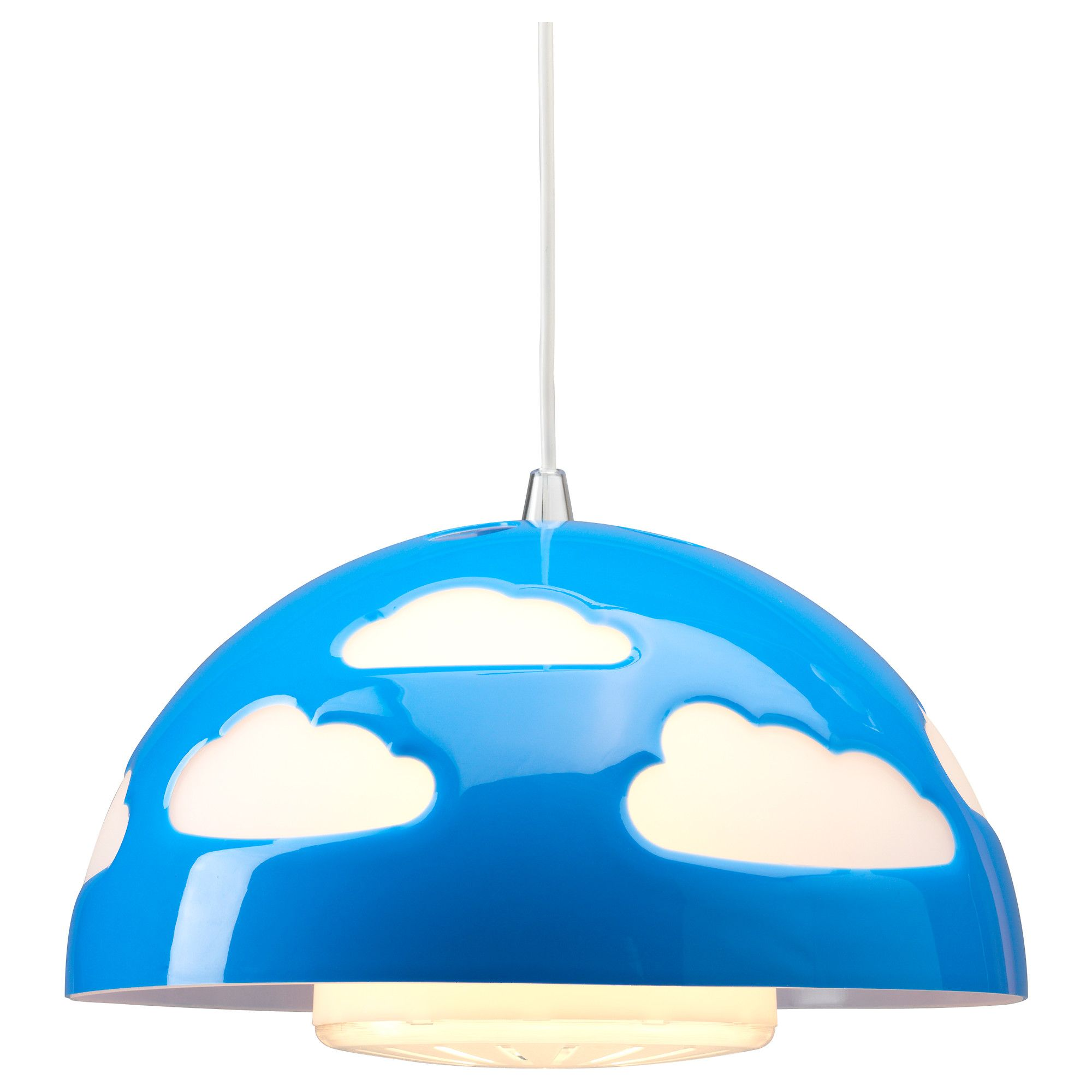 Skojig Pendant Lamp Blue Ikea Perfect For The Nintendo Room  ~ Lampara Ventilador De Techo Ikea