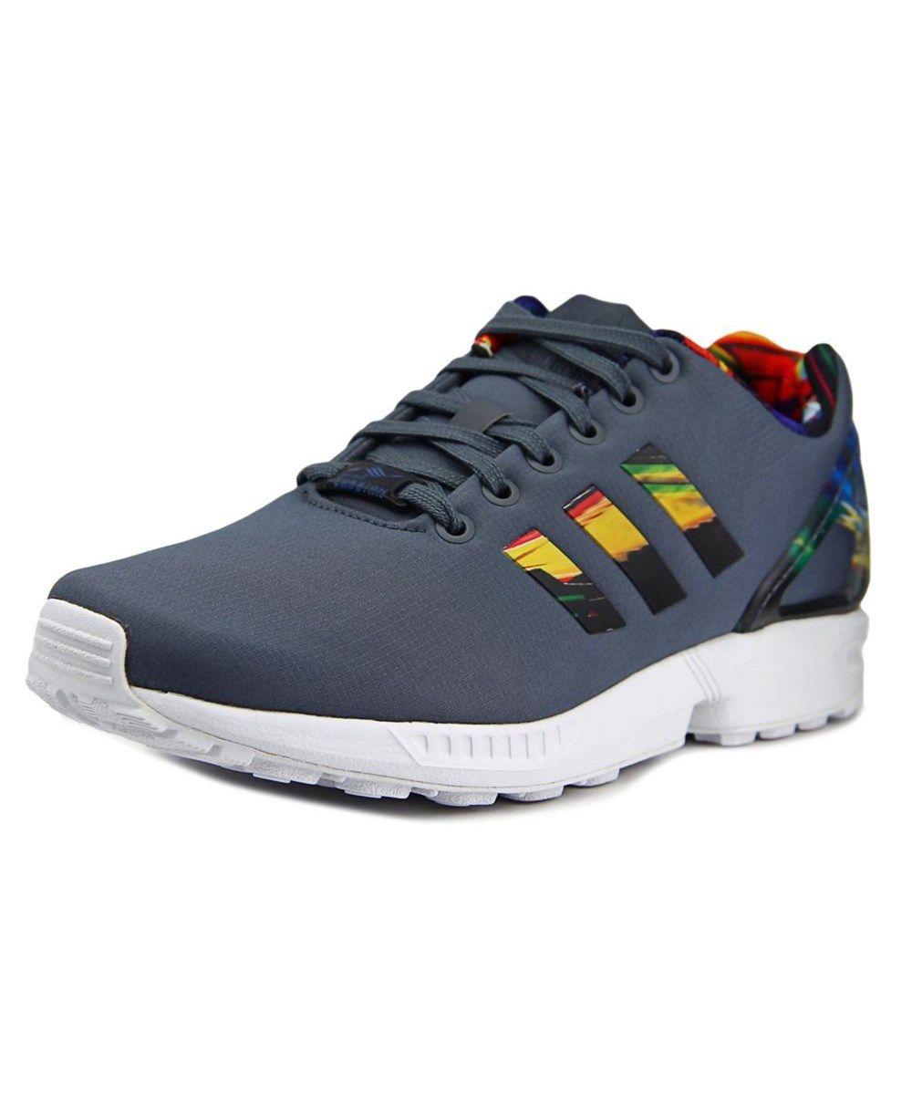 adidas adidas adidas originaux adidas zx gris hommes round toe toile flux baskets 57016d