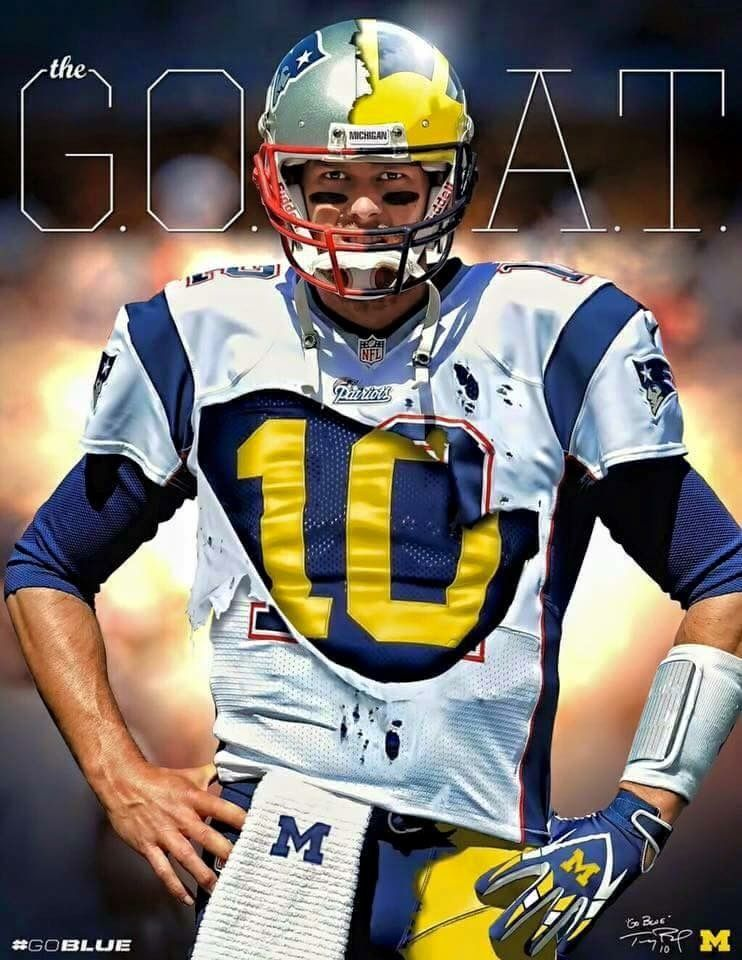 tom brady michigan game jersey