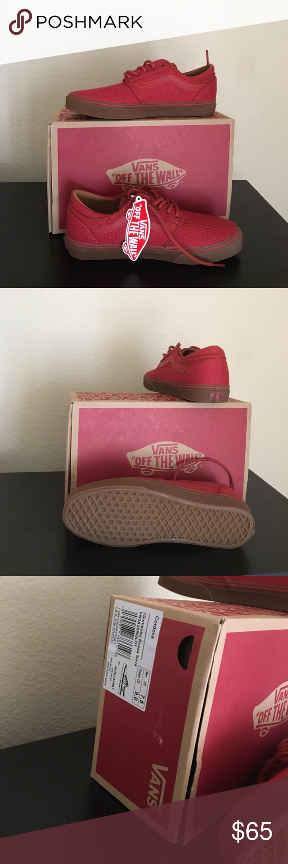 46f0555efc Vans Men s Gumsole Bossa Nova Red Shoes 7.5 New with box men s size 7.5 Vans  Shoes Athletic Shoes