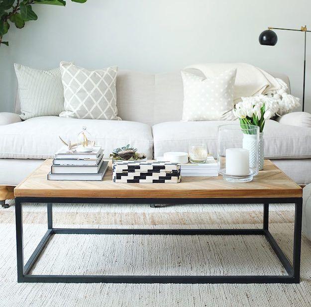 Wood And Black Narrow Coffee Table 15 Narrow Coffee Table Ideas