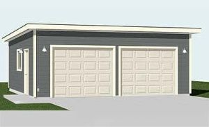 2 Car Flat Roof Garage Plan D No. 576 1FT By Behm Designs Ready To Use  Check Out Our Wide Range Of Unique Designs In Garage Plan Free Sample Pdf  Available ...