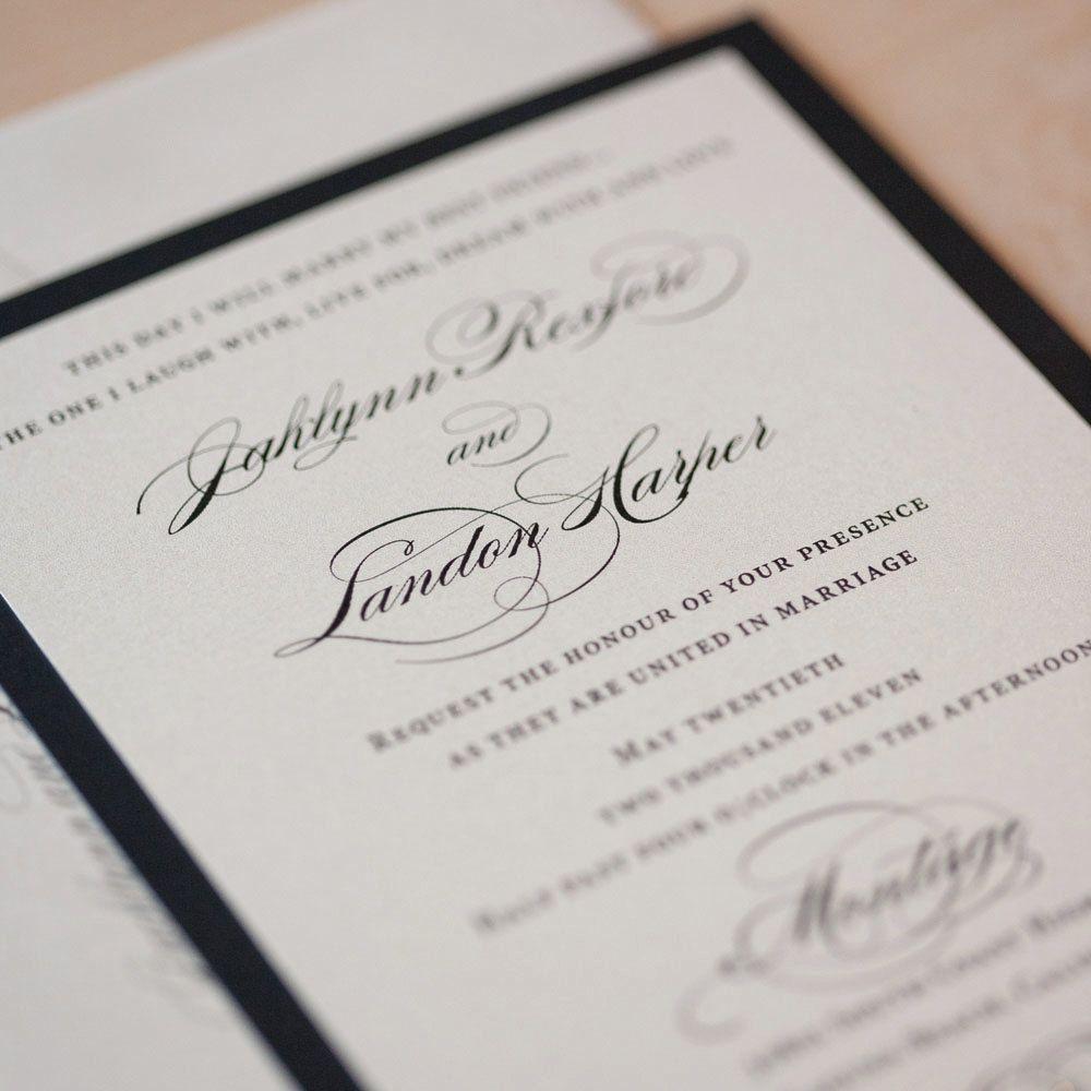 Elegant Wedding invitation Script on by JenSimpsonDesign on Etsy ...