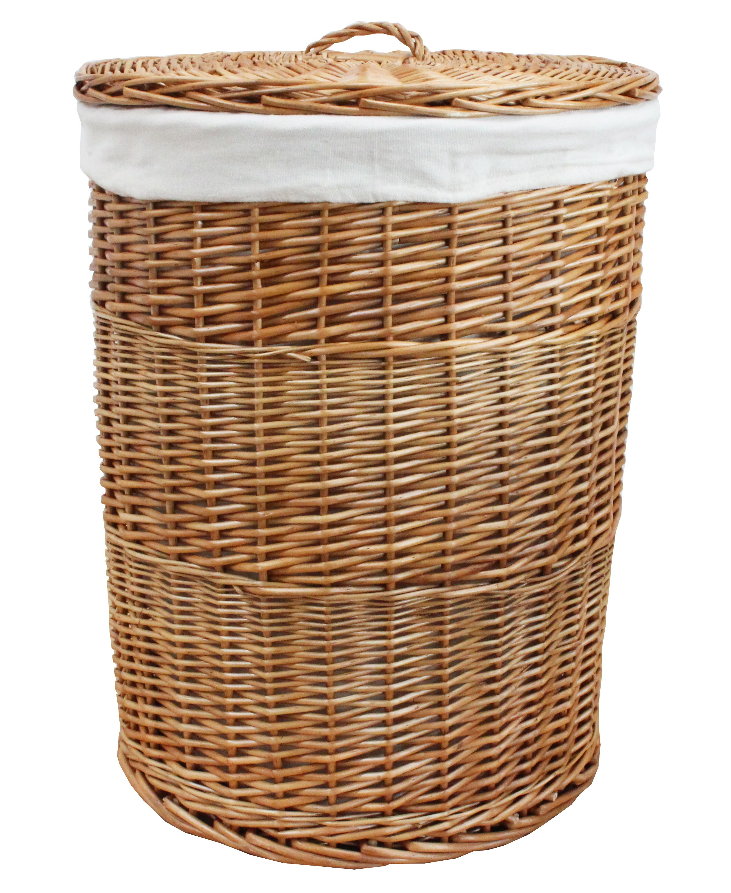 Round Natural Wicker Laundry Basket Wicker Laundry Basket Woven